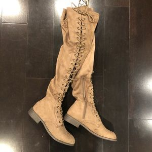 ⭐️🆕⭐️ Lace Up Knee High Boots